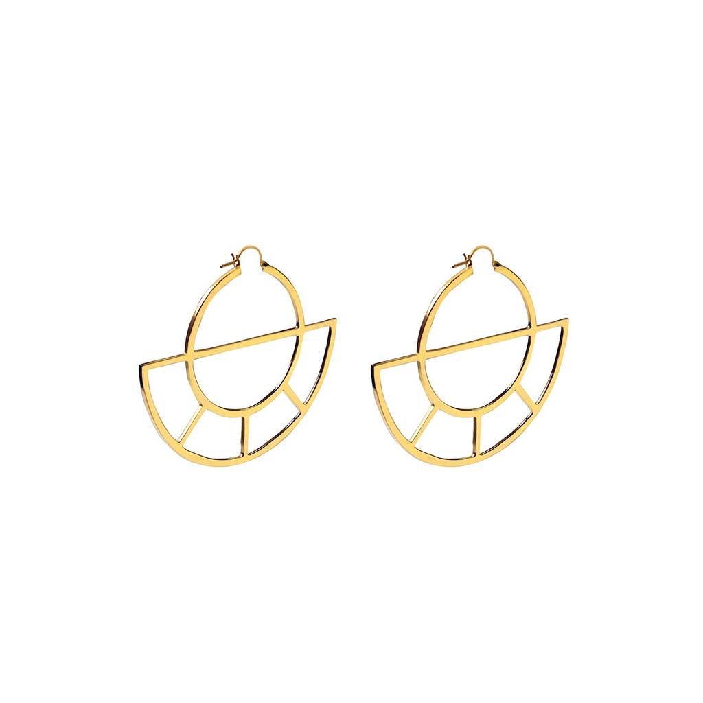 SMALL SOLAR NOON EARRINGS GOLD