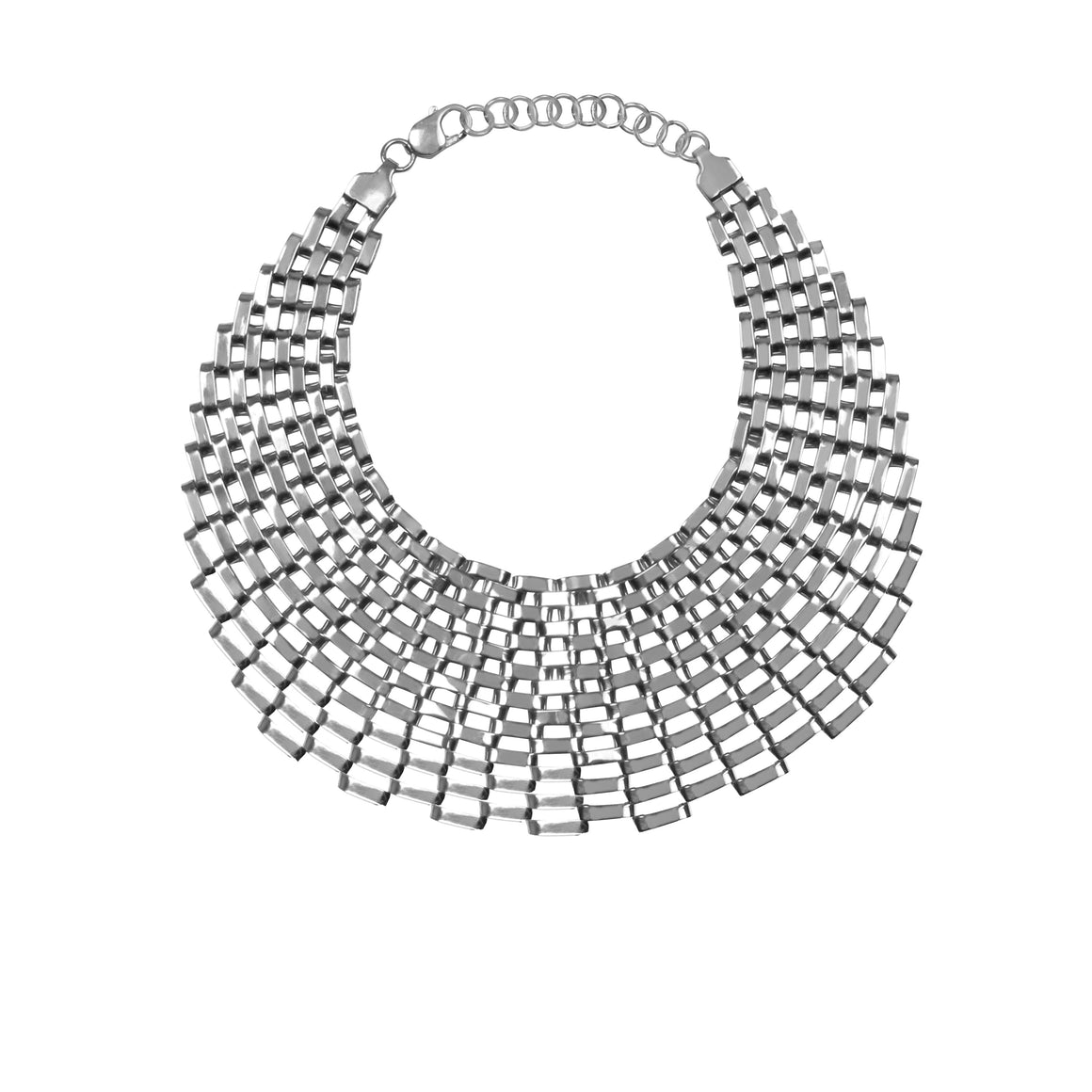 LARGE SLOAN CHOKER IN SILVER