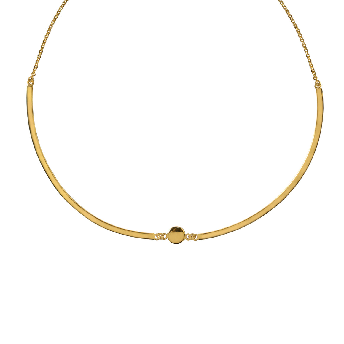 DELICATE DISC COLLAR IN GOLD