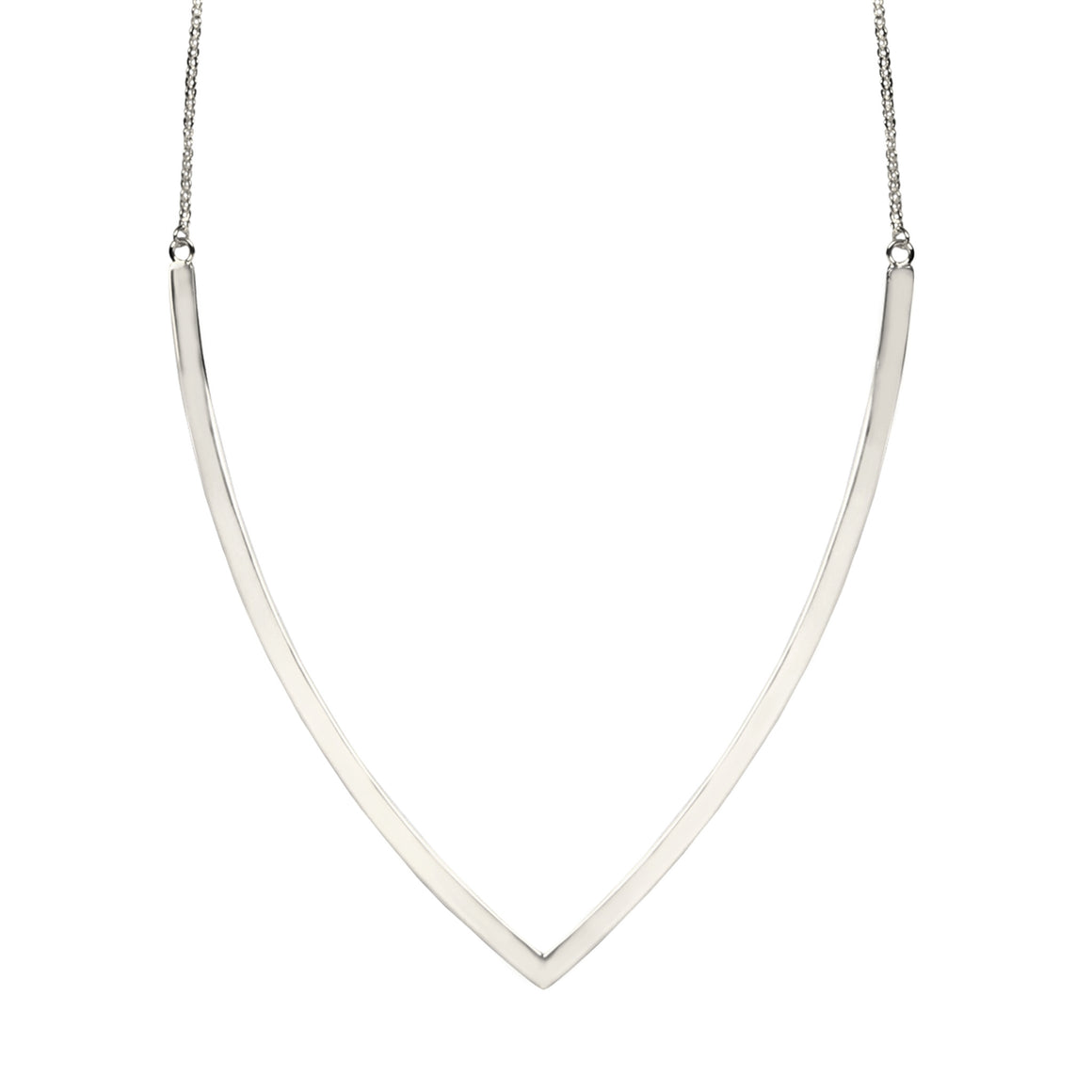 V COLLAR NECKLACE IN 925 STERLING SILVER
