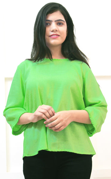 Pistachio Green 3/4 Sleeves Top