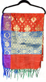 Shop online for designer Indian Banarasi dupattas at the best rates in USA & Canada. Rust, Golden, blue, purple Art Silk dupatta shawl multicolor zari work embroidery Chanderi Ethnic Indian traditional wedding party festival fashion wrap handloom elegant handwork trendy anniversary gift cheap design stylish buy Darpaha