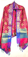 Shop online for designer Indian Banarasi dupattas at the best rates in USA & Canada. Golden Art Silk dupatta shawl multicolor zari work embroidery Chanderi  Ethnic Indian traditional wedding party festival fashion suit wrap accessories handloom elegant handwork trendy anniversary gift cheap design stylish buy Darpaha