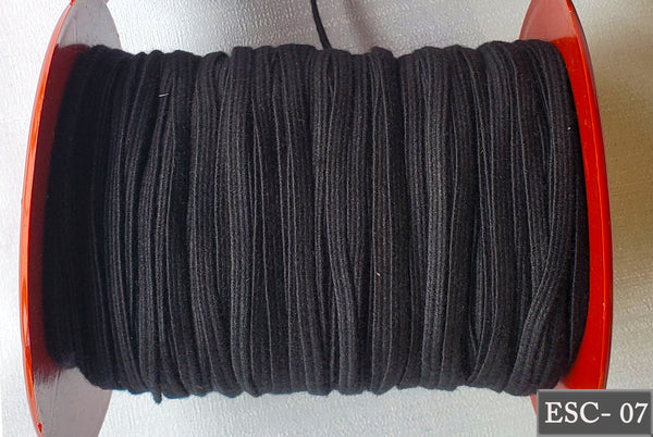 Black Color Soft, comfortable, stretchy, durable, easy on ears elastic, Elastic for face mask