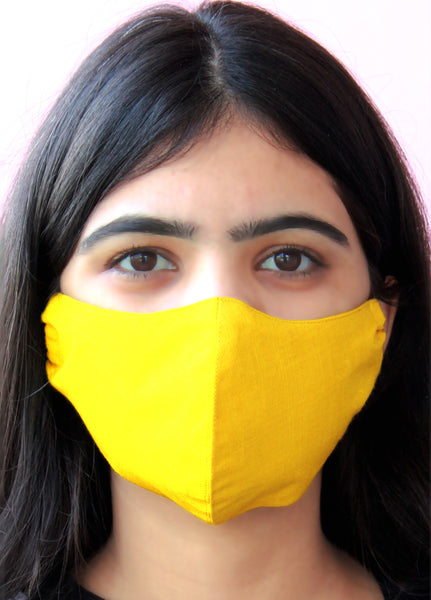 Mustard Yellow Color soft  Rayon Face Masks
