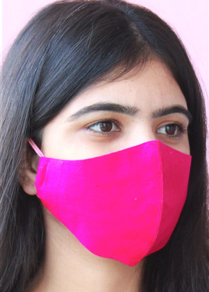 Hot Pink Color soft  Rayon Face Masks