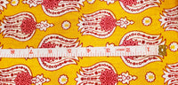Pure Cotton Mughal flower pattern Print Yard Fabric For Dresses Stitching Draping Craft Abstract Cloth BOHO DIY