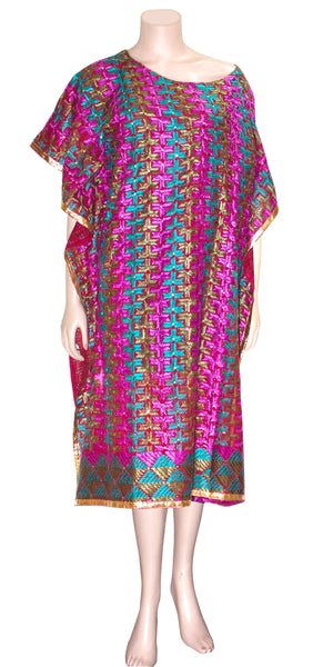 Phulkari Handwork Cotton Kaftan Top/Dress HMK17921