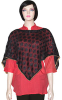 Buy designer poncho capes & wraps at best price in USA & Canada. Black dark phulkari embroidery top Phulkari style golden lace Hand-made punjabi Indian ethnic fashionable tops festivals parties Unique custom pieces Darpaha shiny Sale gifts for her affordable minimalistic BOHO Bohemian Darpaha Sale mexican fashion women