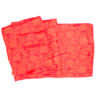 Red Color jacquard Silk Lightweight Scarf/Scarves/Stole