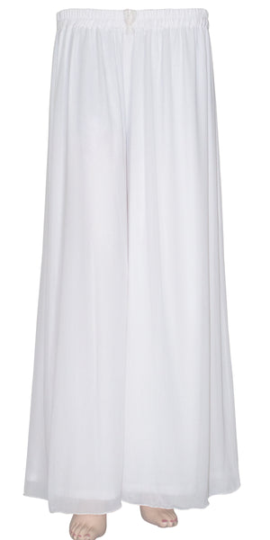 White color wide-legged pants/trouser, Georgette Palazzo Pants