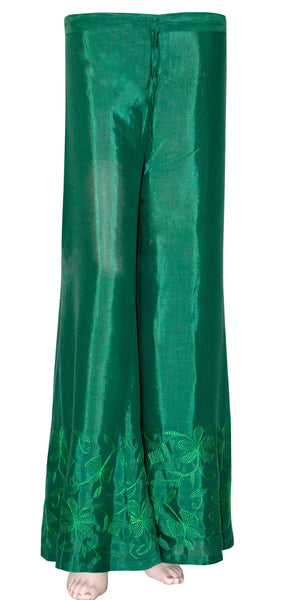 Beautiful Embroidered Green Color Palazzo Pants/Palazzo Trouser