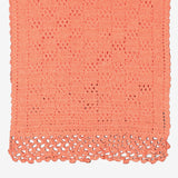 Orange Color Hand-woven (knitted) woolen Scarf/Muffler-HWS16802