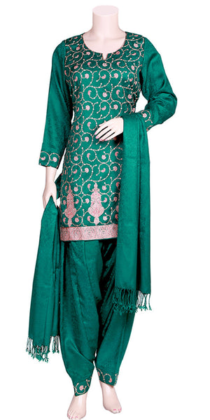 Pashmina Designer Embroidered Patiala Salwar Suit LPS15101052