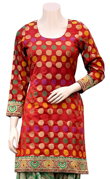 Buy designer Indian Banarasi Party Wear Kurtis at the best rates in the USA & Canada. Banarasi Art silk kurti jacquard art silk motif zari embroidery Chanderi borders handicraft Stylish Ethnic traditional wedding party handmade shiny fashion casual elegant BOHO festival occasion party wear stylish discount Darpaha Sale