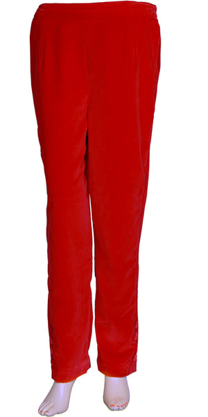 Red Velvet Cigarette Pants
