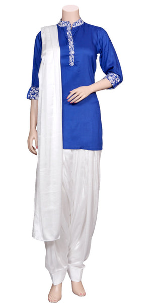 Soft & lightweight Rayon & Soft Viscose silk Patiala Salwar Suit/Punjabi Suit