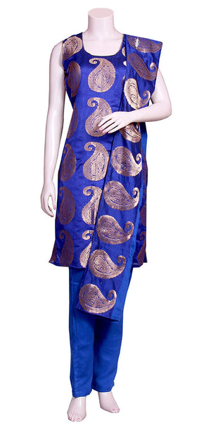Royal Blue Banarasi Pant Suit