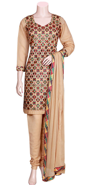 Phulkari Embroidered Pajami Suit