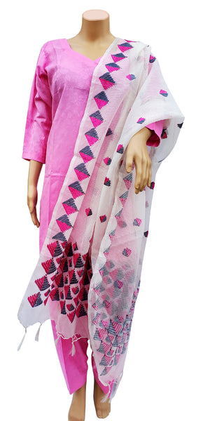 Buy designer patiala salwar & kameez suits at the best rates in the USA & Canada. Baby Pink polyester cotton kurti & salwar 3/4 sleeves Punjabi Phulkari dupatta pink purple Hand embroidered short Ethnic Indian traditional wedding party festival mint panjabi outfit lohri jaago shop online fashion stylish Darpaha Sale