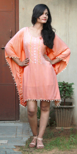 Light Pink Full Sleeve Kaftan Dress