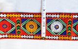 Gujarati Border with Multicolor Embroidery & Mirror Work