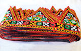 Triangular Shape Gujrati Border with Mirror work