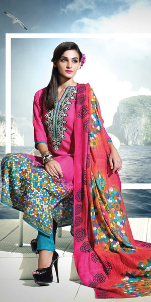 Designers Full & Well Stitched Pashmina Suit - SPS14003