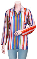 Viscose/Chiffon Silk Light weight with Shirt Collar long Sleeves Blouse/Top