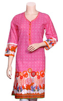 Designer flowers & Block print cotton Kurti/Tunic/Top