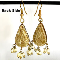 Golden-Rod & Golden color Hand-made Lakh/Lac Earrings