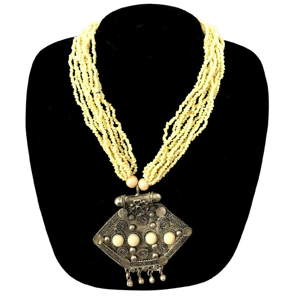 Modern indo western necklace with Brass Pendants