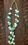 Handmade Multicolor blended Shells-Necklace