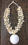 Handmade Off-white Pendant Shells-Necklace