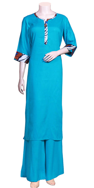 Casual Long Kurti with Palazzo Suit UPS1581036
