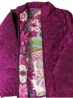 Pure Cotton filled Quilted Purple color stylish Jackets UQJ15603
