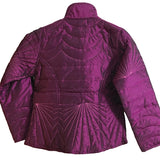 Shop warm winter jackets at the best rates in the USA & Canada. Purple pure cotton filling jacket polyester fabric pockets zipper comfortable collar full sleeves shiny  BOHO stylish chic modern fitted floral colorful lining insulated Magenta Dark Pink  Darpaha buy sale