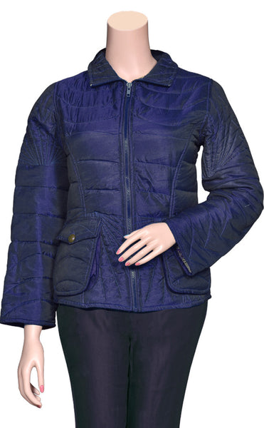 Pure Cotton filled Quilted Blue  color stylish Jackets UQJ15604