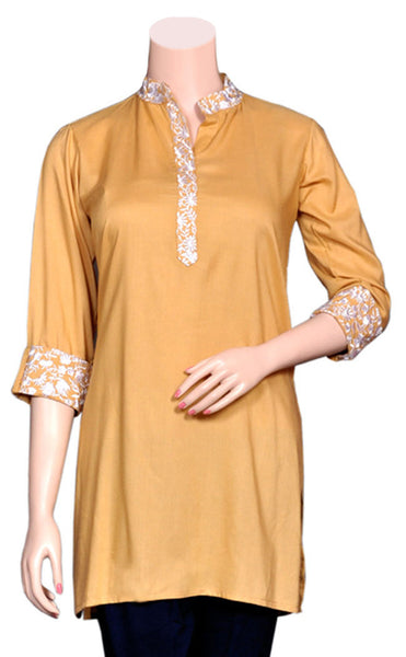 Beautiful Embroidered Rayon Short Kurti/Tunic/Top