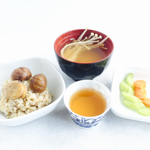 Chestnut Brown Rice with Charcoal Roasted Cui Feng Oolong