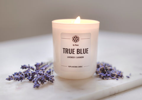 TRUE BLUE natural candle LAVENDER LAVANDIN 480 g. 180 ml.