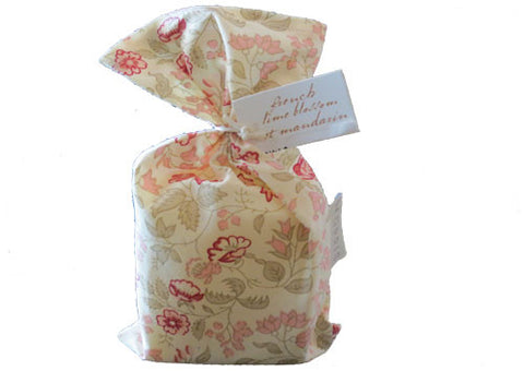 Bath Soap French Lime Blossom et Mandarin pink bag