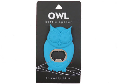 Bottle opener blue owl