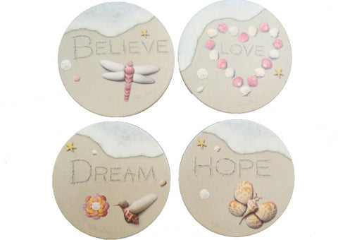 Coasters Sand Writing