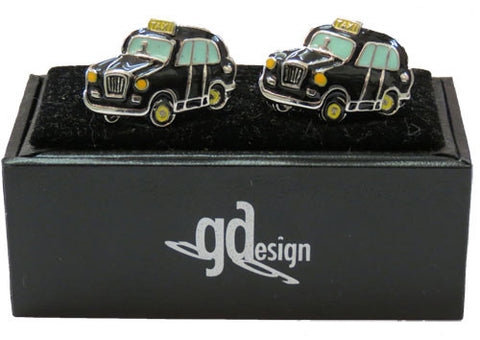 Cufflinks London Taxi Black