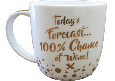 Cup - Todays Forecast 100% Chance of Wine