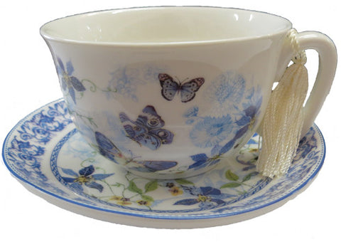 Cup n Saucer Set Blue Butterfly