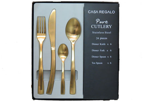 Cutlery Set Matt Gold
