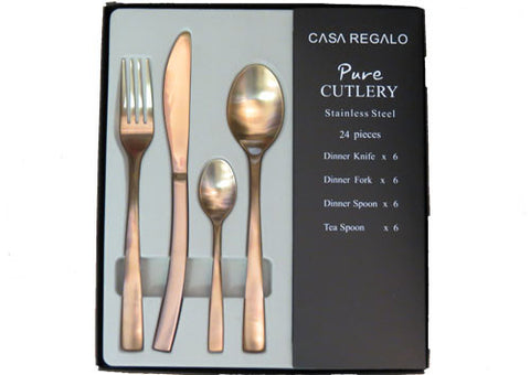 Cutlery Set Matt Rose