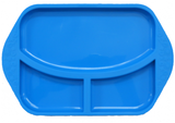 Divided Plate Blue Hippo